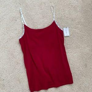 Calvin Klein red sleepwear tank top
